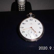 Omega Uhr gebraucht 1900 Silber 52mm Arabisch Handaufzug Nur Uhr