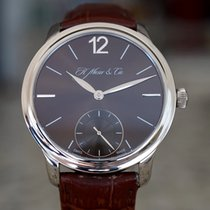 H.Moser & Cie. White gold Manual winding Brown pre-owned Endeavour