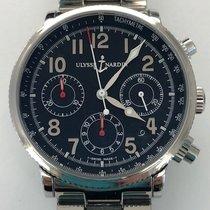 Ulysse Nardin Marine Chronograph Steel 38mm Black Arabic numerals United States of America, New York, New York