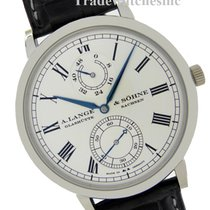 A. Lange & Söhne Langematik Platinum 41mm Silver Roman numerals United States of America, Florida, North Miami Beach