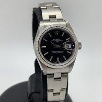 Rolex Oyster Perpetual Lady Date Acciaio 26mm Nero Senza numeri Italia, Milano