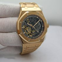 Audemars Piguet Royal Oak Double Balance Wheel Openworked Rose gold 41mm Transparent No numerals