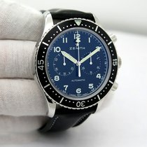 Zenith Pilot Type 20 pre-owned 43mm Black Chronograph Leather