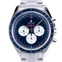 Omega Speedmaster Steel 42mm Blue No numerals
