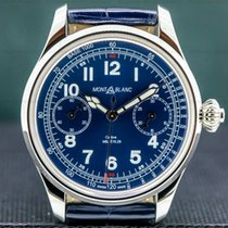 Montblanc pre-owned Manual winding 44mm Blue Sapphire crystal