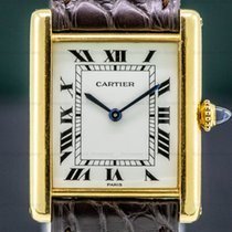 Cartier Tank Louis Cartier Yellow gold White Roman numerals United States of America, Massachusetts, Boston