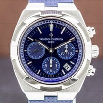 Vacheron Constantin Steel Automatic Blue pre-owned Overseas Chronograph
