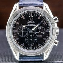 Omega Speedmaster Broad Arrow Acero 42mm Negro