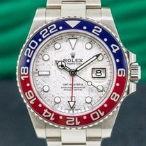Rolex GMT-Master II White gold 40mm Silver Arabic numerals