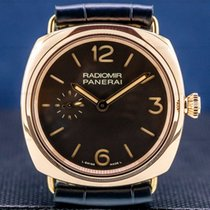 Panerai Rose gold Manual winding Black 42mm pre-owned