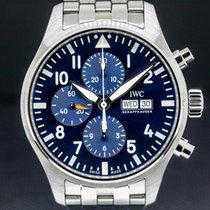 IWC Pilot Chronograph Steel 43mm Blue United States of America, Massachusetts, Boston