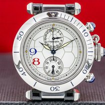 Cartier Pasha pre-owned 36mm White Chronograph Date