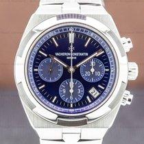 Vacheron Constantin Overseas Chronograph pre-owned Blue Chronograph Date Steel