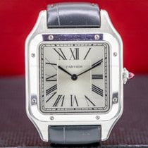 Cartier Santos Dumont Platinum Silver Roman numerals United States of America, Massachusetts, Boston