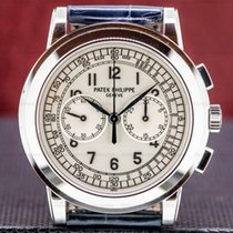 Patek Philippe Chronograph pre-owned Silver Chronograph Tachymeter Fold clasp