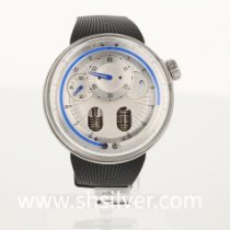 HYT pre-owned Manual winding 48.8mm Silver Sapphire crystal 3 ATM