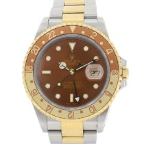 Rolex GMT-Master II pre-owned 40mm Brown Date GMT Gold/Steel