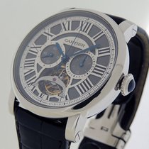 Cartier Platinum Manual winding Grey Roman numerals 45mm new Rotonde de Cartier