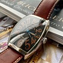 Franck Muller Casablanca pre-owned 34mm Black Leather