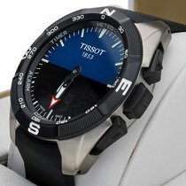 Tissot T-Touch Expert Solar Steel 45mm Black Arabic numerals
