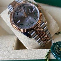 Rolex Datejust II Goud/Staal 41mm Grijs Geen cijfers Nederland, Den haag