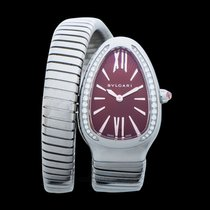 Bulgari Steel Quartz Purple new Serpenti