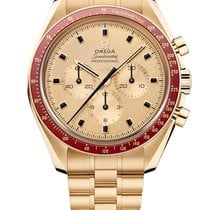 Omega Speedmaster Professional Moonwatch Geelgoud 42mm Goud Geen cijfers