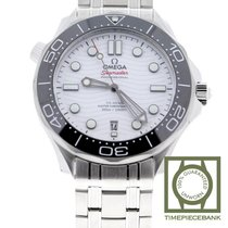 Omega Seamaster Diver 300 M Acier 42mm Blanc Sans chiffres