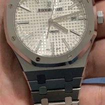Audemars Piguet Royal Oak Selfwinding pre-owned 41mm Silver Date Steel