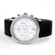 Blancpain Villeret pre-owned 34mm White Chronograph Date Buckle