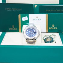 Rolex Steel Automatic Blue No numerals 40mm pre-owned Yacht-Master 40