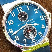 Ulysse Nardin Marine Chronometer 41mm Çelik 41mm Mavi Arap rakamları