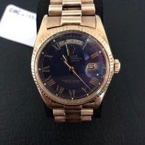 Rolex Day-Date 36 Or jaune 36mm Bleu Sans chiffres