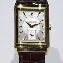 Jaeger-LeCoultre Yellow gold Manual winding Silver No numerals 26mm pre-owned Reverso Grande Taille