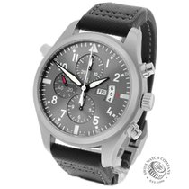 IWC Pilot Double Chronograph Acero 46mm Gris