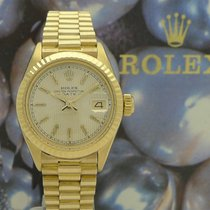 Rolex Lady-Datejust Yellow gold 26mm Champagne No numerals