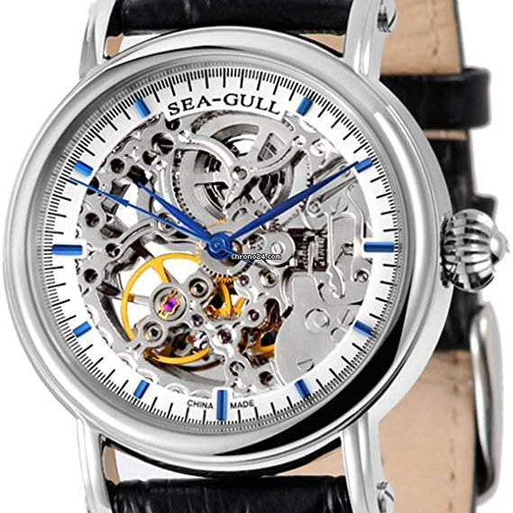 Sea Gull Seagull Double Skeleton M182sk Blue Hand Automatic Watch For 496 For Sale From A Private Seller On Chrono24
