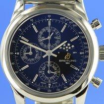 Breitling Transocean Chronograph 1461 Сталь 43mm Черный