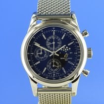 Breitling Transocean Chronograph 1461 Staal 43mm Zwart