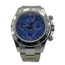 Rolex pre-owned Automatic 40mm Blue Sapphire crystal 10 ATM