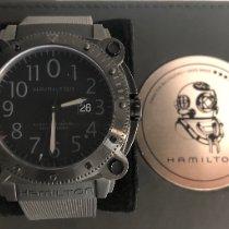 Hamilton Khaki Navy BeLOWZERO Acier 46mm Noir Arabes