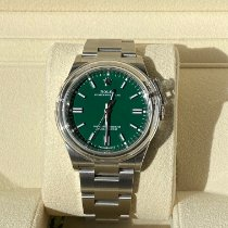 Rolex Oyster Perpetual 36 Steel 36mm Green No numerals United Kingdom, welwyn