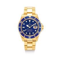 Rolex Or jaune Bleu Submariner Date