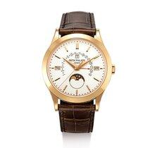 Patek Philippe Rose gold Silver Perpetual Calendar