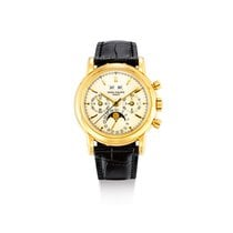 Patek Philippe Perpetual Calendar Chronograph Yellow gold Silver United States of America, New York, New York