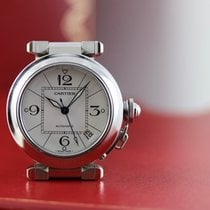 Cartier Pasha C Acier 35mm Blanc Arabes France, Cannes