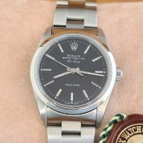 Rolex Air King Precision pre-owned 34mm Black Steel