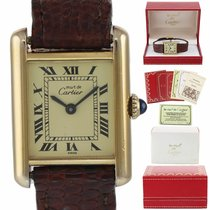 Cartier Tank Vermeil Silver 21mm Champagne Roman numerals United States of America, New York, Huntington