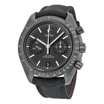 Omega Speedmaster Professional Moonwatch Stal 44mm Czarny Bez cyfr