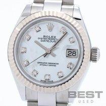 Rolex Lady-Datejust Or/Acier 28mm Blanc